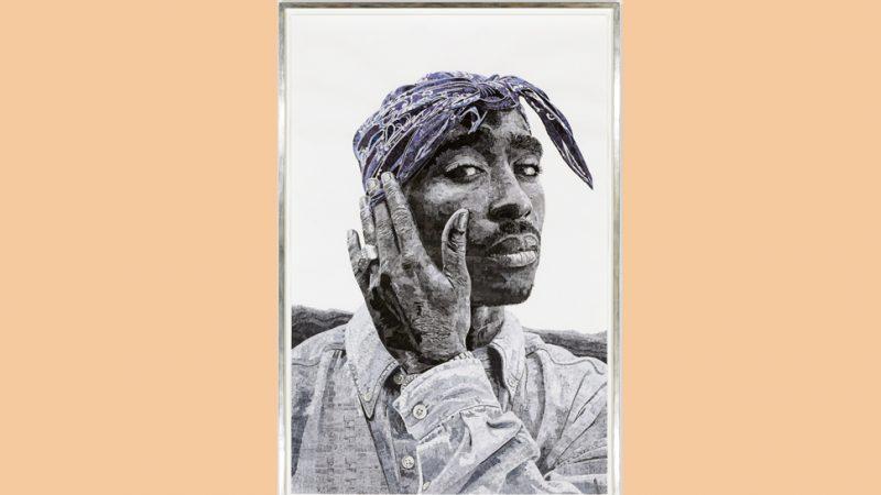 Portraits des Rappers Tupac Shakur