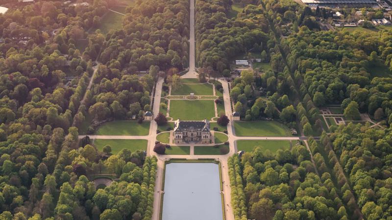 Dresden Park Großer Garten von oben