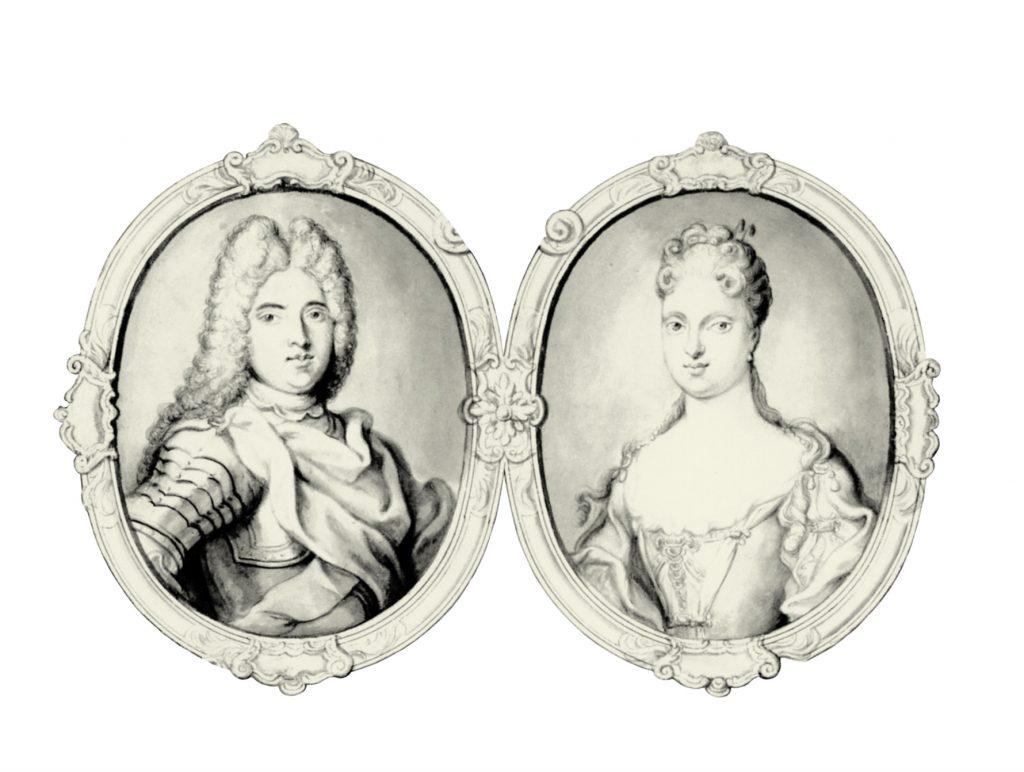 Hochzeitspaar: Friedrich August II. (1696–1763) und Maria Josepha
